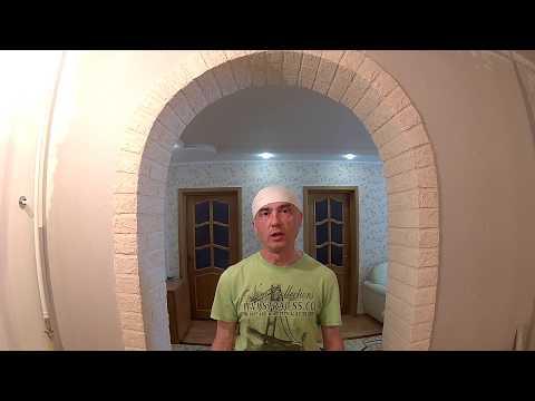 Отделка арки декоративным камнем в квартире своими руками