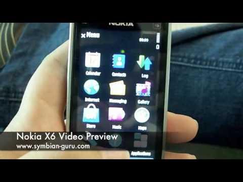 Nokia X6 Preview Video