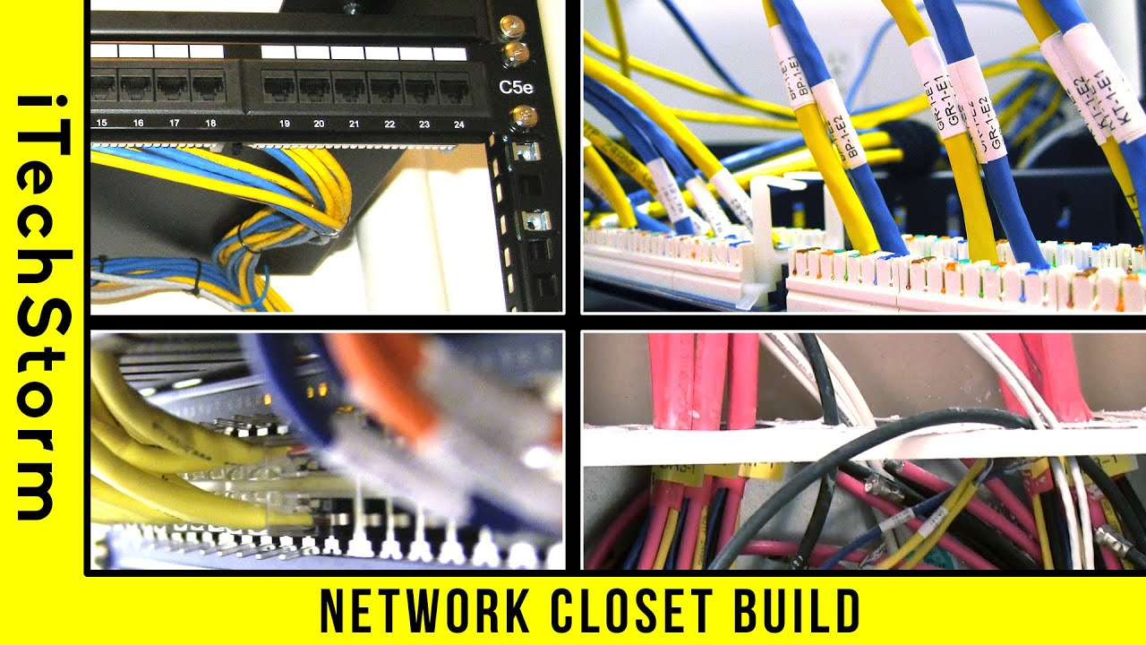 Wiring Closet Sign Diagram Data A Network Cable Rack Build Home Area Youtube Rats Nest