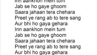Lirik lagu Inn Aankhon Mein Tum - AYU TINGTING - Jodha Akbar