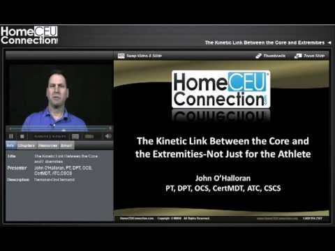 The Kinetic Link Between The Core And Extremities Youtube
