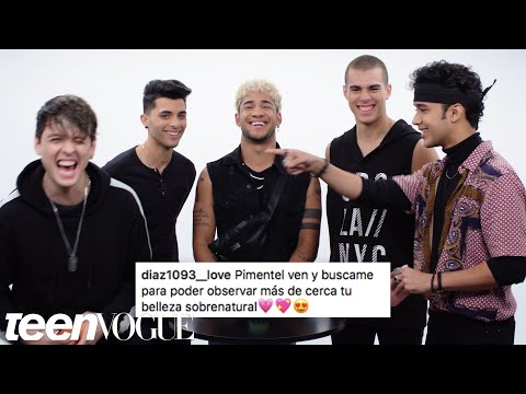 CNCO Compete in a Compliment Battle  Teen Vogue