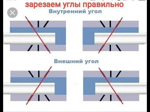 Как правильно и быстро зарезать углы и приклеить багет или потолочный плинтус