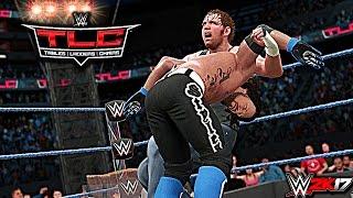 WWE 2K17 TLC 2016: AJ Styles vs Dean Ambrose WWE World Championship TLC Match (PS4 & XBOX ONE)