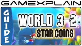 New Super Mario Bros. U - Sparkling Waters-2 Tropical Refresher Star Coins Guide & Walkthrough