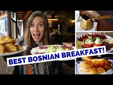 Bosnian Breakfast in Mostar, Bosnia and Herzegovina