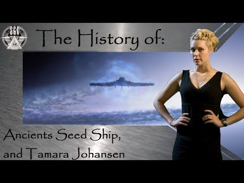 Ancient's Seed Ship, And Tamara Johansen (Stargate SGU) X2