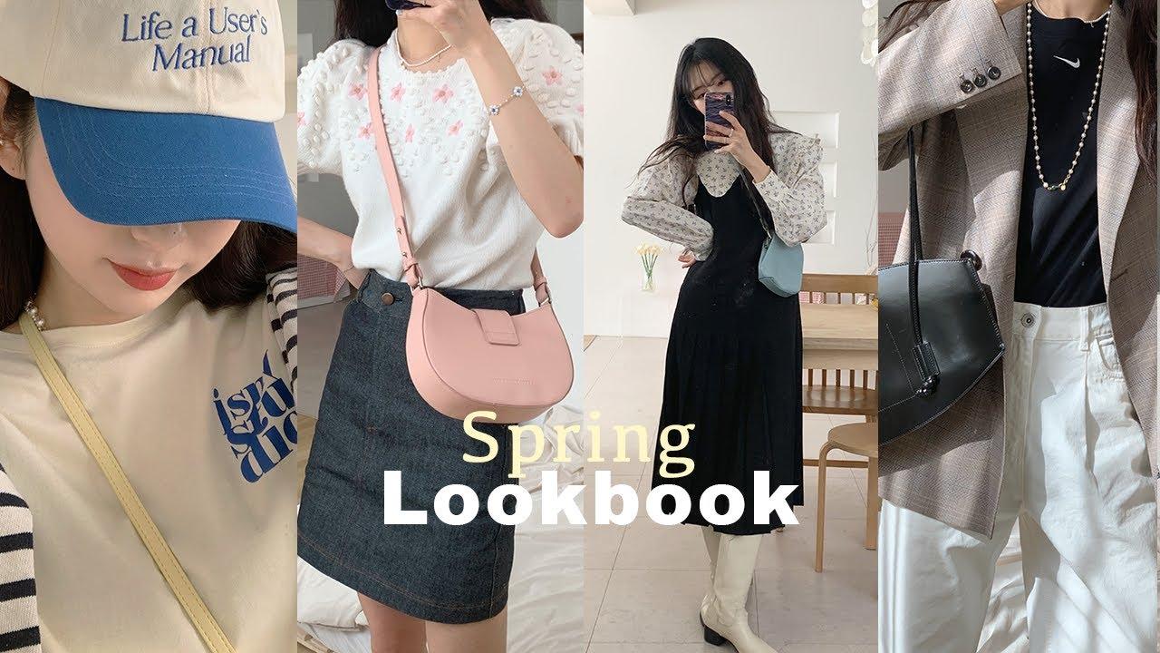 FASHION LOOKBOOK 🌼 봄에 입기 좋은 6가지 스타일링 코디 , 봄 패션룩북, 개강룩, 출근룩 | zoopeach지우