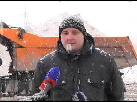 Пресс-тур по уборке снега - YouTube