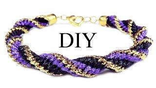 DIY: Kumihimo spiral bracelet / Браслет