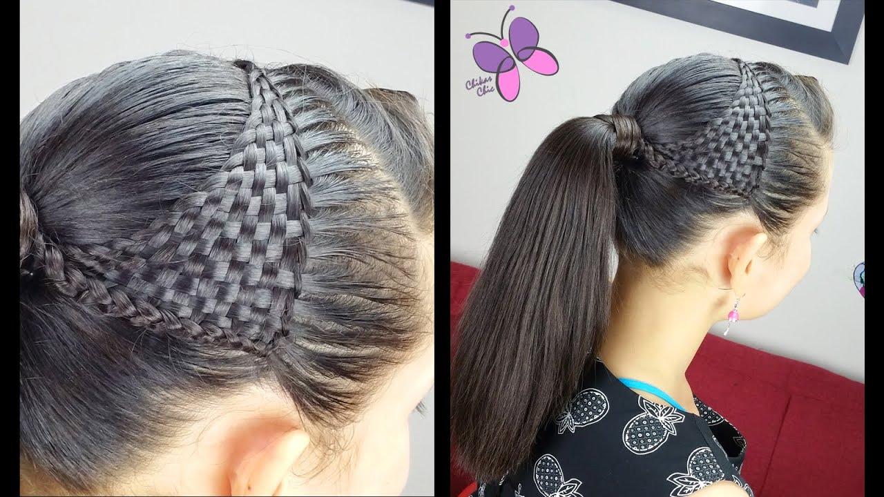 nudo chino y esterillado o tejido canasta basquet weave peinados para nias trenzas y peinados youtube