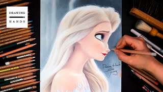 Drawing Frozen2_Elsa(Hair loose elsa) [Drawing Hands]