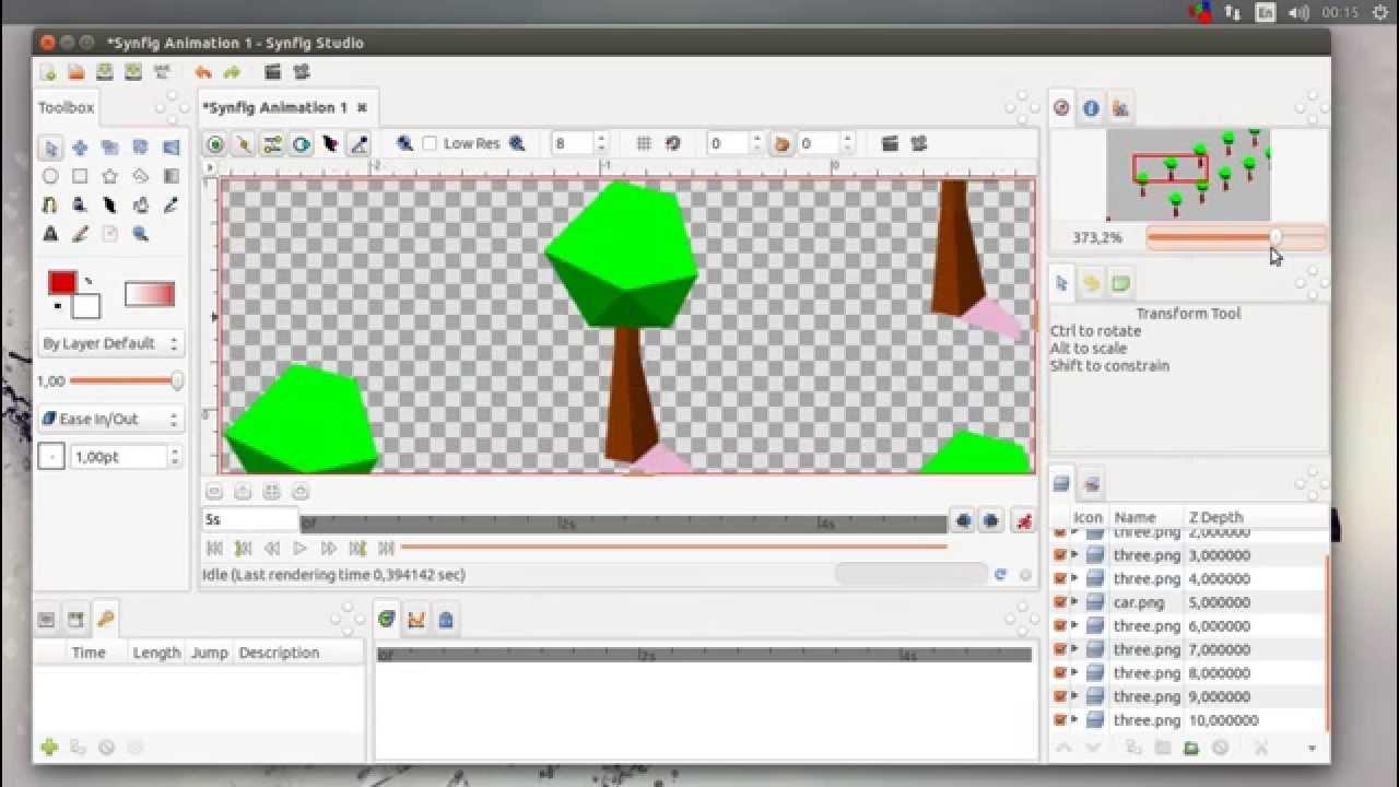 Synfig Studio 0 65 0 dev 2D vector animation studio Single-Window UI