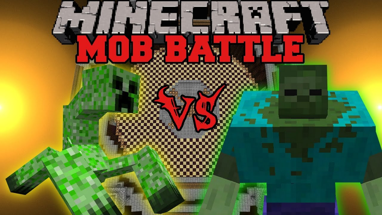Mutant Zombie Vs Mutant Creeper  Minecraft Mob Battles  Mutant
