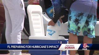 Florida coast watching Dorian