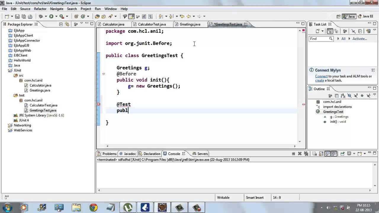 Unit testing with junit tutorial.