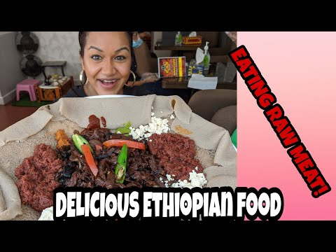 Eating Raw beef, Ethiopian food, Where to eat in U.A.E vlog no 2