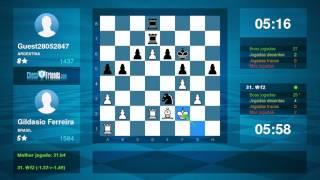 Chess Game Analysis: Gildasio Ferreira - Guest28052847 : 1-0 (By ChessFriends.com)
