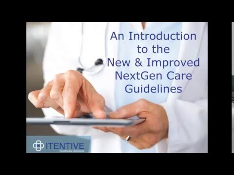 An Introduction to the New and Improved NextGen Care Guideli