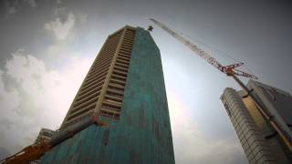 KL Skyscraper High Reach Lifting Job by Central Geo