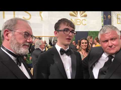 'Game of Thrones' Isaac Hempstead Wright, Liam Cunningham, Conleth Hill on Emmys red carpet