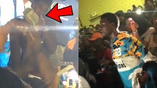 NBA YoungBoy Gives A Fan A Stack Of Money