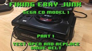 Fixing eBay Junk - Sega CD Model 1 - Part 1 Fixing Drive Belt