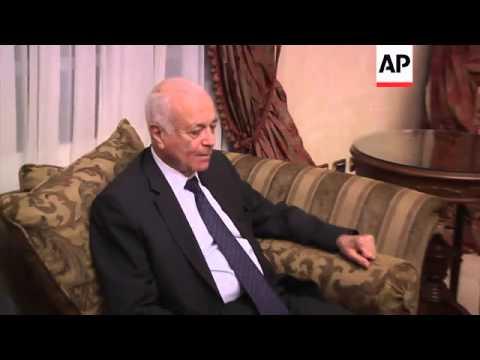 Palestinian President Abbas meets Arab League officials