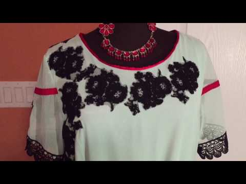 How To Embellish A Plain Dress With Appliqués Lace And Trim