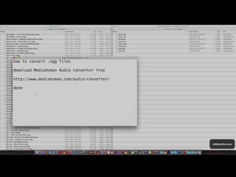 How To Convert .ogg Files On Mac