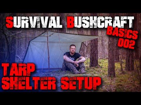 #02 TARP SHELTER SETUP AUFBAU - Survival Bushcraft Basics - Tipps für Anfänger - Outdoor Ausrüstung
