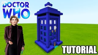 """Minecraft Tutorial: How To Make A Tardis House from Dr Who """"Dr Who"""""""