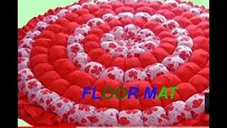 Floor mat/ door mat/area rug/table mat/baby sheet/carpet/recycle craft idea