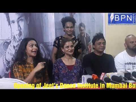 Actress Bidita Bag, Jeet Singh, Akbar Ali at Jeet's Dance Institute