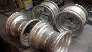 Прокатка и покраска спортивных дисков от квадроцикла(, 2017-06-01T13:28:23.000Z)