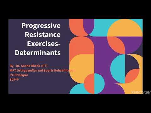 Progressive Resistance Exercises Determinants of exercise Part 2!