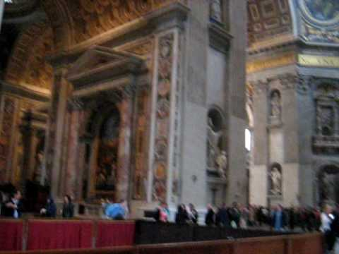 Vaticano Interno Basilica Di San Pietro Roma