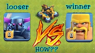 Pekka Vs barberian which troops win for x-bow 🔥🔥🔥