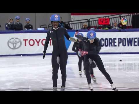Olympic Short Track Speedskating Trials | Maame Biney Wins First 500-Meter Final