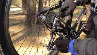 Настройка заднего переключателя велосипеда.(Как настроить задний переключатель велосипеда., 2015-04-08T17:41:52.000Z)