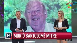 Murió Bartolomé Mitre