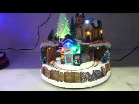 Light Up Christmas Musical Village Moving Train Scene LIGHT/MOTION/MUSIC