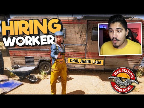 I HIRED WORKER FOR OUR GAS STATION - GAS STATION SIMULATOR #4