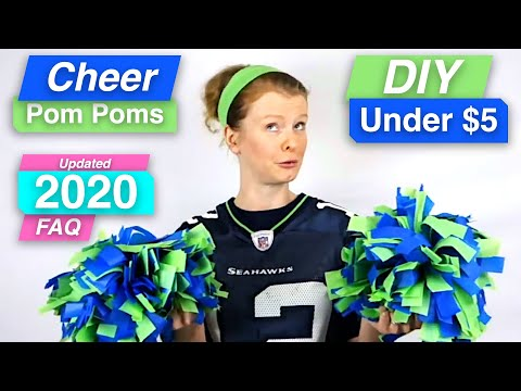 How To Make Cheer Leading Pom Poms - Seahawks colors