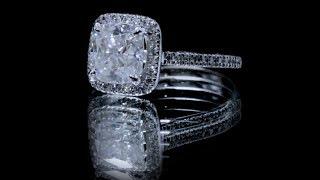 F&B Jewelry Showcase: Custom FAB 7mm Cushion Moissanite HAlo Ice Solitaire Ring