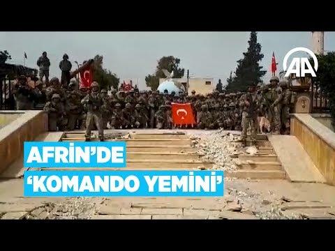 """Mehmetçik Afrin'de """"Komando Yemini"""" etti"""