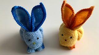 Geschenke selber machen - Hasen basteln mit Tuch - Ostern Bastelideen DIY