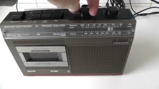 philips d7010 radio cassette player recorder 1982