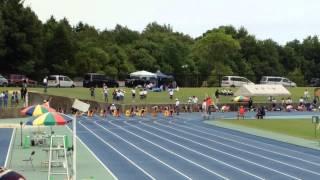 20150607 第3回中学記録会 女子100m2組目