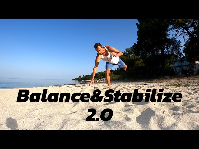 Balance and stability training in sand